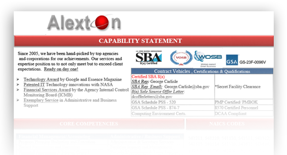 Alexton Capabilities Statement